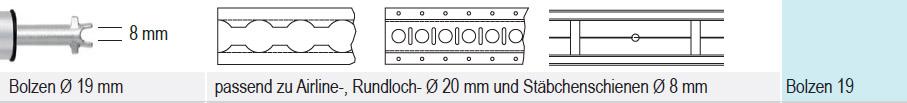 endzapfen 19 mm